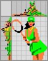 Японский кроссворд Теннисистка