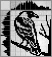 Японский кроссворд Ворона на ветке