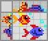Японский кроссворд Цветные рыбки