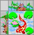 Японский кроссворд Рыбка в пруду