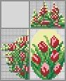 Японский кроссворд Букет тюльпанов