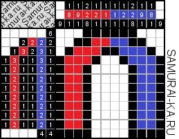 Японский кроссворд - Магнит решай онлайн без регистранции и бесплатно.