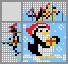 Японский кроссворд Пингвин с подарком