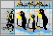 Японский кроссворд Семья пингвинов
