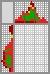 Японский кроссворд Красный ёлочный шарик