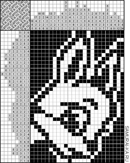 Японский кроссворд - Милая белка решай онлайн без регистранции и бесплатно.