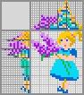 Японский кроссворд Девочка с цветами