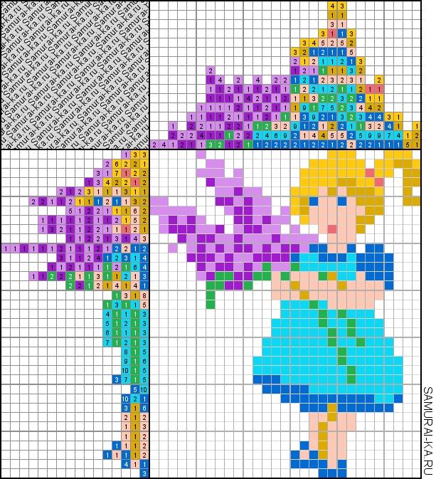 Японский кроссворд - Девочка с цветами решай онлайн без регистранции и бесплатно.