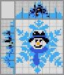 Японский кроссворд Снежинка