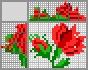 Японский кроссворд Красные цветы