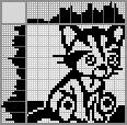 Японский кроссворд Грустный котёнок