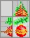 Японский кроссворд Красный ёлочный шар