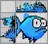 Японский кроссворд Синяя рыба